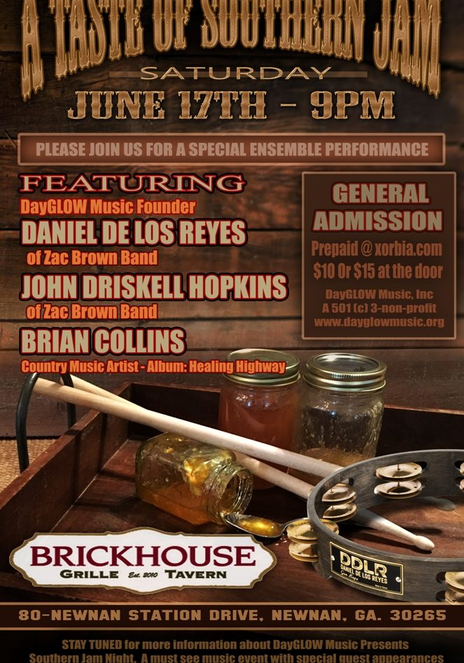 DayGlow A Taste of Southern Jam Brickhouse June 17 051917 Poster1 compressed